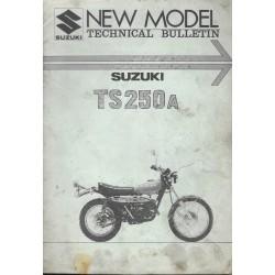 SUZUKI TS 250 A (Bulletin technique 10 / 1975) en anglais