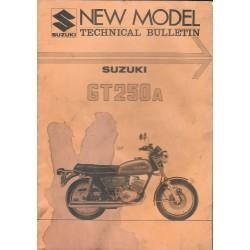SUZUKI GT 250 A (bulletin technique 12 / 75) en anglais