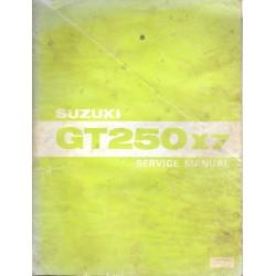 Manuel atelier SUZUKI GT 250 X7