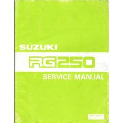 Manuel atelier SUZUKI RG250 (10/1985) en anglais