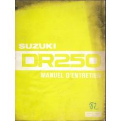 Manuel atelier SUZUKI DR 250 (06/1982)