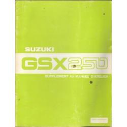 Manuel atelier SUZUKI GSX 250 (12/1980)