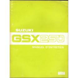 Manuel atelier SUZUKI GSX 250 X (08/1981)