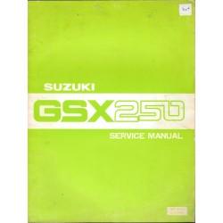 Manuel atelier SUZUKI GSX 250 X (071980) anglais