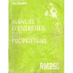 Manuel atelier SUZUKI RM 250 1993