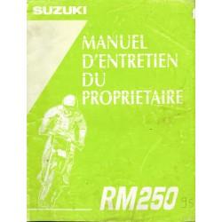 Manuel atelier SUZUKI RM 250 (07/1994) modèle 1995