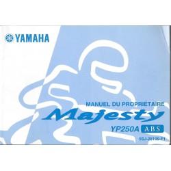 YAMAHA 250 MAJESTY YP250A ABS(type 5SJ modèle 2002)