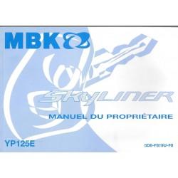 YAMAHA YP 125 E SKYLINER modèle 2007