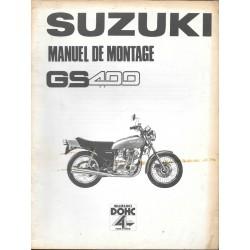 SUZUKI GS 400 de 1977 (manuel assemblage 10 / 1976)