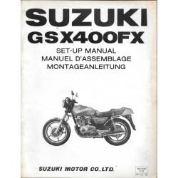 SUZUKI GSX 400 FX de 1981 (manuel assemblage 05 / 1981)