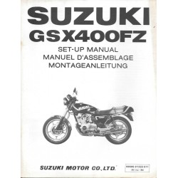 SUZUKI GSX 400 FZ de 1982 (manuel assemblage 12 / 1981)