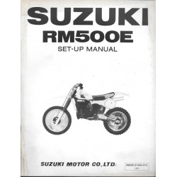 SUZUKI RM 500 E de 1984 (manuel assemblage 12 / 1983)