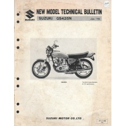 SUZUKI GS 425 N de 1979 (bulletin technique 01 / 1979)