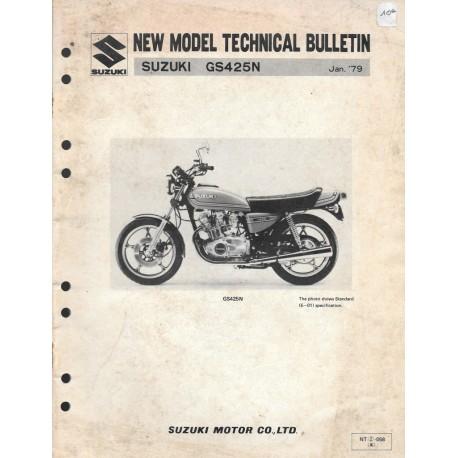 SUZUKI GS 425 N de 1979 (manuel assemblage 01 / 1979)