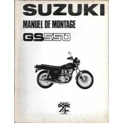 SUZUKI GS 550 DOHC de 1977 (manuel assemblage 03 / 1977)