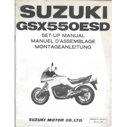 SUZUKI GSX 550 ESD de 1984 (manuel assemblage 01 / 1984)