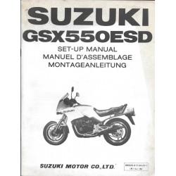 SUZUKI GSX 550 ESD de 1984 (manuel assemblage 01 / 1984)