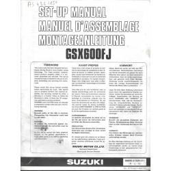 SUZUKI GSX 600 FJ de 1988 (manuel assemblage 11 / 1987)