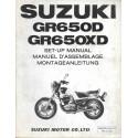 SUZUKI GR 650 D / XD de 1983 (manuel assemblage 03 / 1983)