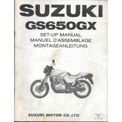 SUZUKI GS 650 GX de 1981 (manuel assemblage 05 / 1981)