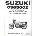 SUZUKI GS 650 GZ de 1982 (manuel assemblage 12 / 1981)