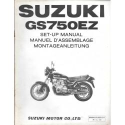 SUZUKI GS 650 EZ de 1982 (manuel assemblage 12 / 1981)