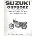 SUZUKI GS 750 EZ de 1982 (manuel assemblage 12 / 1981)