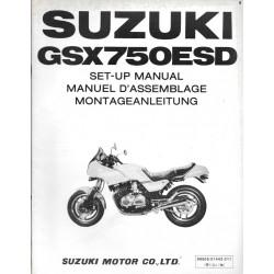 SUZUKI GSX 750 ESD de 1983 (manuel assemblage 06 / 1983)