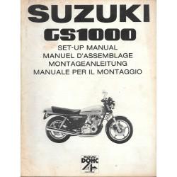 SUZUKI GS 1000 de 1978 (manuel assemblage 02 / 1978)