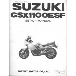 SUZUKI GSX 1100 ESF de 1985 (manuel assemblage 11 / 1984)