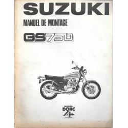 SUZUKI GS 750 de 1977 (manuel assemblage 09 / 1976)