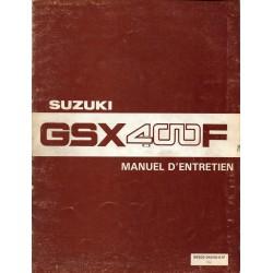Manuel atelier SUZUKI GSX 400 F 1982
