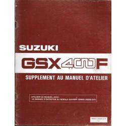 Manuel atelier additif SUZUKI GSX 400 FZ 1982