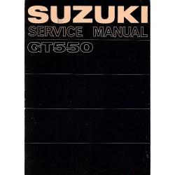 Manuel atelier SUZUKI GT 550 modèle 1972
