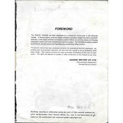 Manuel atelier SUZUKI GSX 550 E et ES modèle 1983 en anglais