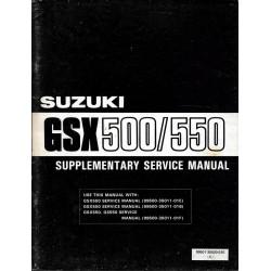 Manuel atelier SUZUKI GSX 550 E et L modèle 1985 en anglais