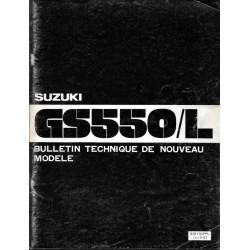 Manuel atelier SUZUKI GSX 550 T et LT modèle 1980