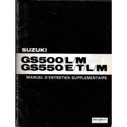Manuel atelier SUZUKI GS 550 et dérivés modèle 1981 / 1982