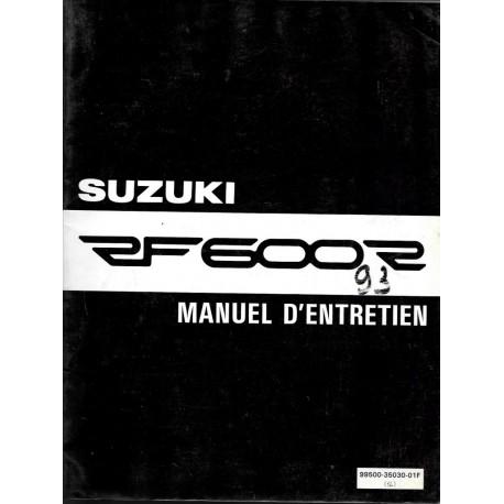 Manuel atelier SUZUKI RF 600 RP 1993