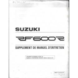 Manuel atelier SUZUKI RF 600 RT 1996