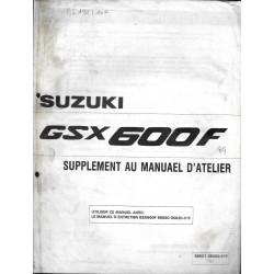 Manuel atelier additif SUZUKI GSX 600 FL 1990