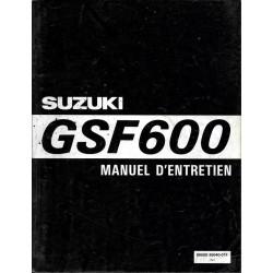 Manuel atelier SUZUKI GSF 600 de 1995