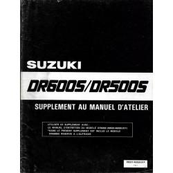 Manuel atelier SUZUKI DR 600 SG de 1986