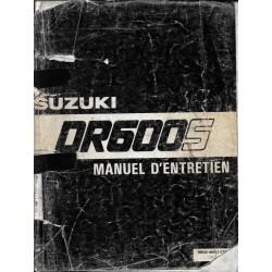 Manuel atelier SUZUKI DR 600 SF / SG / RG de mai 1986
