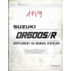 Manuel atelier SUZUKI DR 600 SK /RK 1989