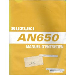 Manuel atelier SUZUKI AN 650 K3 de 2003
