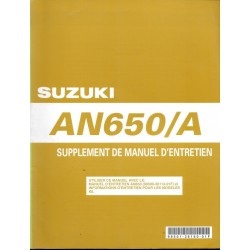 Manuel atelier SUZUKI AN 650 AK7 de 2007