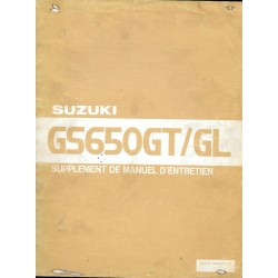 Manuel atelier additif SUZUKI GS 650 GTZ / GLZ de 1982