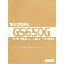 Manuel atelier additif SUZUKI GS 650 GZ de 1982