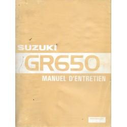 Manuel atelier additif SUZUKI GR 650 / GR 650 X de 1983